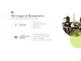 Beverages And Restaurants Profitability Ppt Powerpoint Presentation Visuals