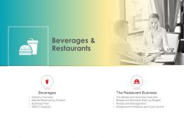 Beverages And Restaurants Start Up Budget Ppt Powerpoint Presentation Styles Layout