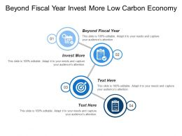 Beyond Fiscal Year Invest More Low Carbon Economy