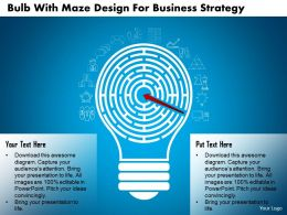 Bf Bulb With Maze Design For Business Strategy Powerpoint Template