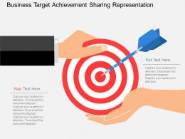 bf Business Target Achievement Sharing Representation Flat Powerpoint Design
