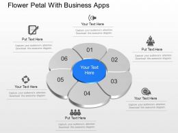 Bf Flower Petal With Business Apps Powerpoint Template Slide
