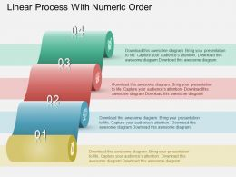 Bf Linear Process With Numeric Order Powerpoint Template