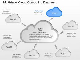 bf Multi Staged Cloud Computing Diagram Powerpoint Template