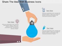 bf Share The Idea With Business Icons Flat Powerpoint Design