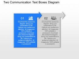 Bf Two Communication Text Boxes Diagram Powerpoint Template Slide