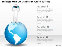 Bg Business Man On Globe For Future Success Powerpoint Template