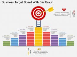 bg Business Target Board With Bar Graph Flat Powerpoint Design
