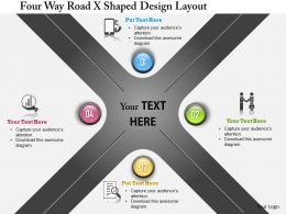 Bg Four Way Road X Shape Design Layout Powerpoint Templets