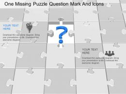 bh One Missing Puzzle Question Mark And Icons Powerpoint Template