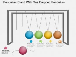Bh Pendulum Stand With One Dropped Pendulum Powerpoint Template
