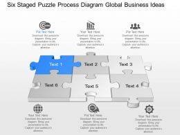 Bh Six Staged Puzzle Process Diagram Global Business Ideas Powerpoint Template