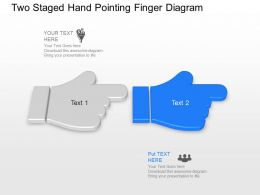 bh_two_staged_hand_pointing_finger_diagram_powerpoint_template_slide_Slide02