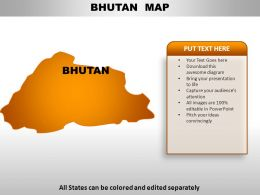 Bhutan Country Powerpoint Maps