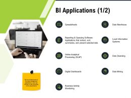 BI Applications And M2792 Ppt Powerpoint Presentation Layouts Graphics