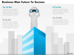 Bi Business Man With Future Vision And Success Powerpoint Template