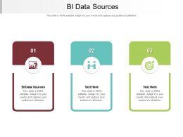 BI Data Sources Ppt Powerpoint Presentation Inspiration Maker Cpb