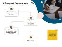 Bi Design And Development Expandability Design Ppt Presentation Deck