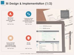 BI Design And Implementation Access Ppt Powerpoint Presentation Professional