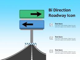 Bi Direction Roadway Icon