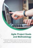 Bi Fold Agile Project Goals And Methodology Document Report PDF PPT Template