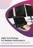 Bi Fold Agile Test Strategy For Website Performance Document Report PDF PPT Template