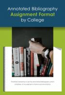 Bi Fold Annotated Bibliography Assignment Format By College PDF PPT Template One Pager