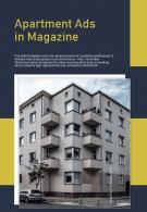 Bi Fold Apartment Ads In Magazine Document Report PDF PPT Template