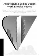 Bi Fold Architecture Building Design Work Samples Document Report PDF PPT Template