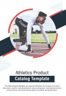 Bi Fold Athletics Product Catalog Document Report PDF PPT Template