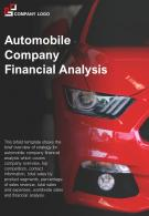 Bi Fold Automobile Company Financial Analysis Document Report PDF PPT Template