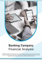 Bi Fold Banking Company Financial Analysis Document Report PDF PPT Template
