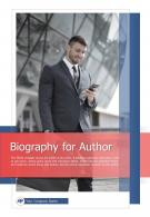 Bi Fold Biography For Author Document Report PDF PPT Template One Pager