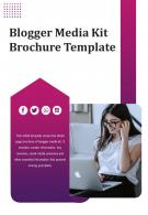 Bi Fold Blogger Media Kit Brochure Template Document Report PDF PPT One Pager