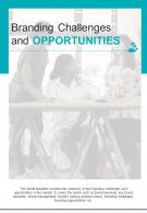Bi Fold Branding Challenges And Opportunities Document Report PDF PPT Template