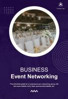 Bi Fold Business Event Networking Document Report PDF PPT Template