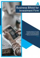 Bi Fold Business For Investment Firm Document Report PDF PPT Template