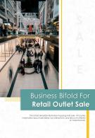 Bi Fold Business For Retail Outlet Sale Document Report PDF PPT Template