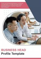 Bi Fold Business Head Profile Document Report PDF PPT Template