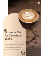 Bi Fold Business Plan For Opening A Cafe Document Report PDF PPT Template One Pager