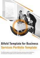 Bi Fold Business Services Portfolio Document Report PDF PPT Template