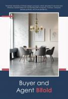 Bi Fold Buyer And Agent Document Report PDF PPT Template