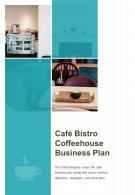 Bi Fold Cafe Bistro Coffeehouse Business Plan Document Report PDF PPT Template One Pager