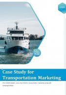 Bi Fold Case Study For Transportation Marketing Document PDF PPT Template One Pager