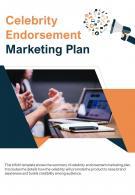 Bi Fold Celebrity Endorsement Marketing Plan Document Report PDF PPT Template