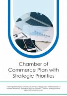 Bi Fold Chamber Of Commerce Plan With Strategic Priorities Document Report PDF PPT Template One Pager