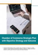 Bi Fold Chamber Of Commerce Strategic Plan With Objective Strategy And Outcome PDF PPT Template One Pager