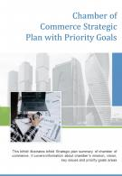 Bi Fold Chamber Of Commerce Strategic Plan With Priority Goals Document Report PDF PPT Template One Pager