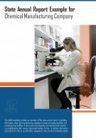 Bi Fold Chemical Manufacturing Company Annual Document Report PDF PPT Template