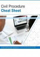 Bi Fold Civil Procedure Cheat Sheet Document Report PDF PPT Template